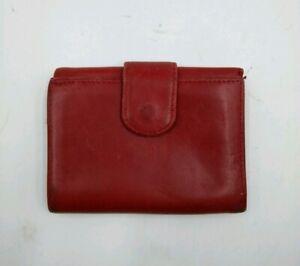 Nordstrom-Genuine-Red-Leather-Wallet-Purse-Card-Holder-Soft-Genuine-Leather