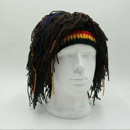 Rasta Wig Beanie Hat Jamaica Rasta Handmade Cap Reggae Dreadlocks Africa Roots