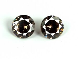 AGSL-Certified-Brown-Sapphire-Loose-Gemstone-Pair-5-Ct-Natural-Round-Cut-2-Pcs