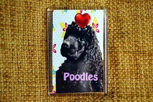 Black-Poodle-Gift-Dog-Fridge-Magnet-77x51mm-Birthday-Gift-Xmas-Stocking-Filler