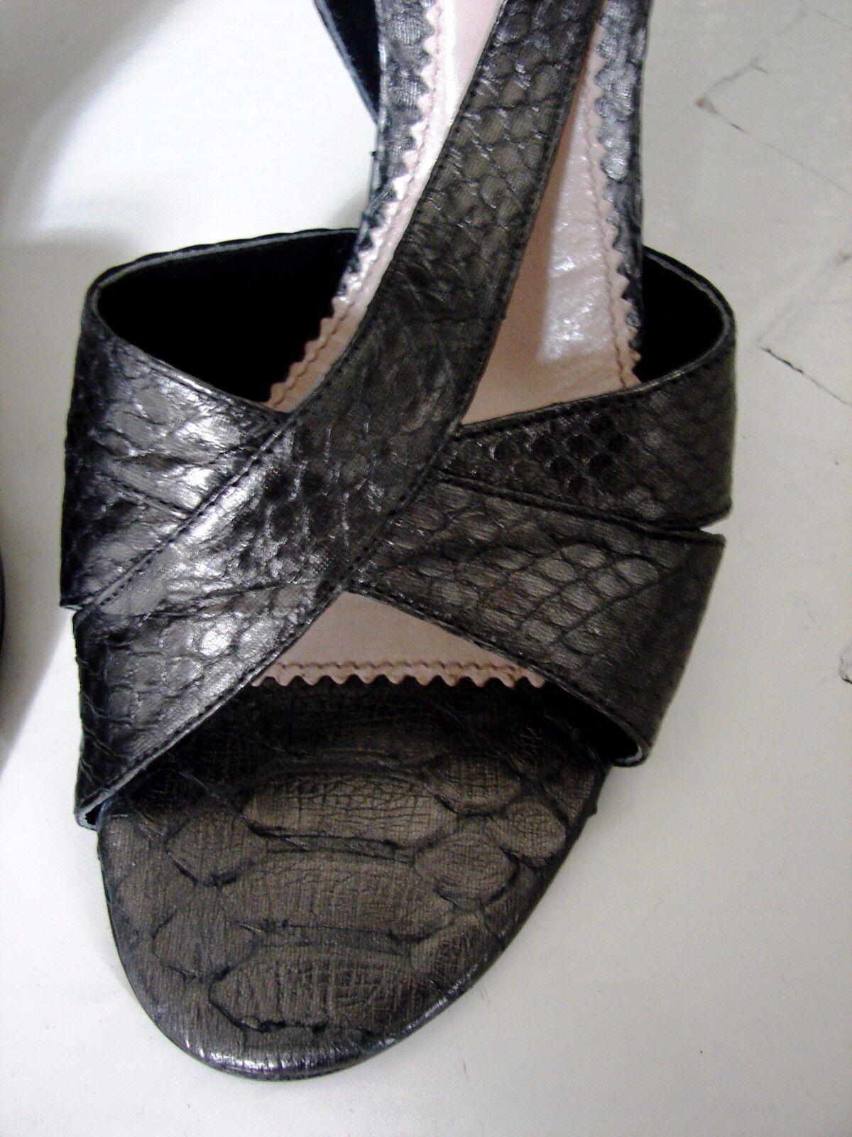 Chloe runway python leather snakeskin stiletto heels sandals sandals sandals shoes T40 8,5 9 NEW 7b3391