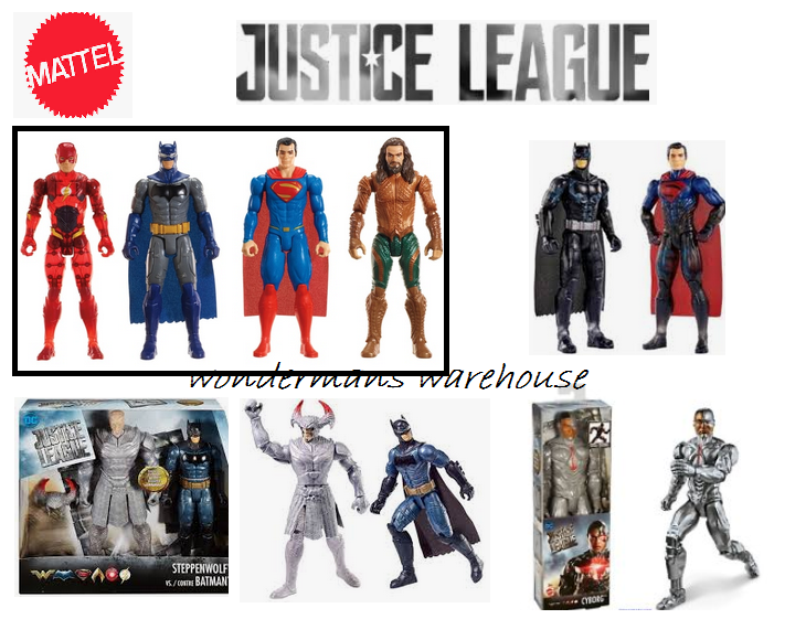 Justice League 12 Inch 30cm Action Figures Mattel - Batman Superman Cyborg Flash