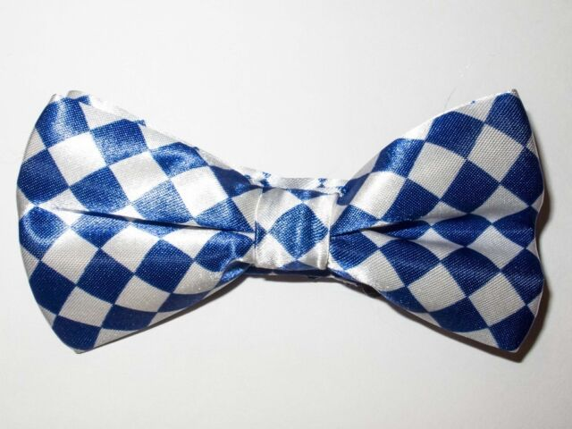 Royal Blue Checkered Bowtie Fashion Novelty Mens Adjustable Bow Tie BTS36