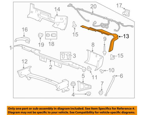 GM OEM Rear Bumper-Step Pad Protector Guard Sill Plate Right 22792259