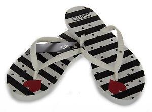 Infradito ciabatta donna slippers GUESS a. E62Z53 taglia S 3536 c. S953 STRIPE