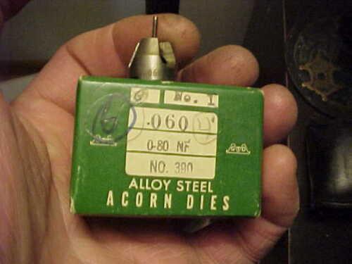 NOS Greenfield 0-80 NF Acorn Die No.1 USA Watchmaker Gunsmith Hobbyist