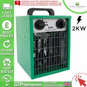 Phare 2 Kw Serre Chauffage-grow Room/tente Assistée Par Ventilateur électrique Radiateur-afficher Le Titre D'origine ChronoméTrage Ponctuel