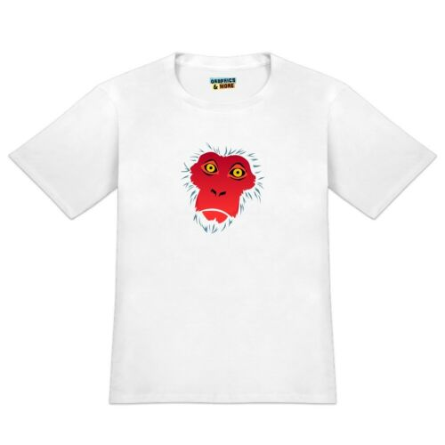 Snow Monkey Face Red Men/'s Novelty T-Shirt