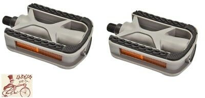 "SUNLITE COMFORT GRIP ABS RESIN GRAY//BLACK 1//2/"" BICYCLE PEDALS"
