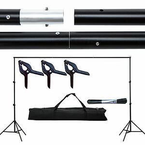 10ft Adjustable Photography Background Support Stand Backdrop Crossbar Kit 699919655908