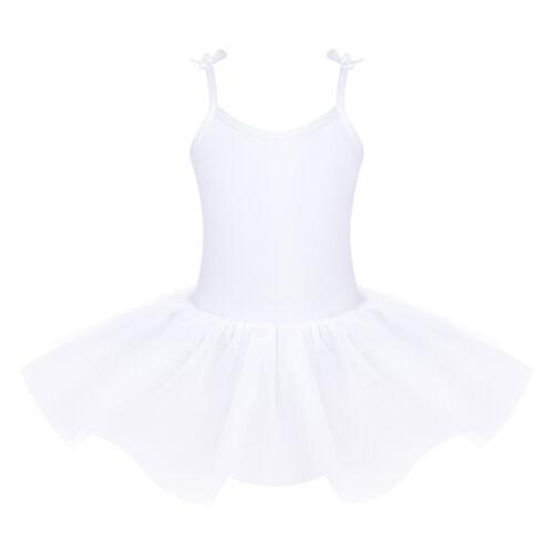 Girls Kids Camisole Ballet Dance Tutu Dress Ballerina Gymnastic Leotard Skirt