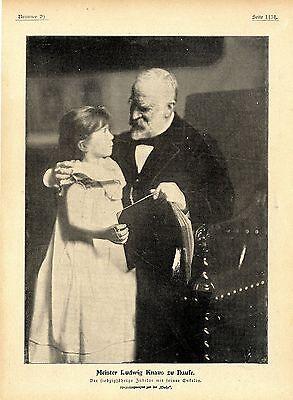 Zum 70. Geburtstag Des Malers Ludwig Knaus Der Meister Mit Seiner Enkelin V.1899
