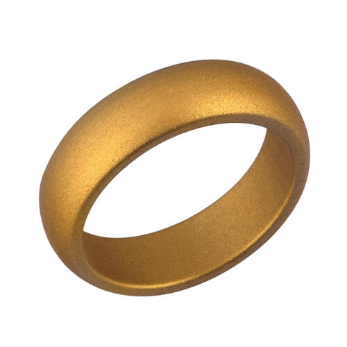 1PC Silver Gold Coppery Silicone Wedding Ring Rubber Engagement Band Size 4-10#