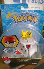 Pokemon Tomy Throw 'N' Pop Poke Ball Pokeball Pikachu Figure Great Super Ball