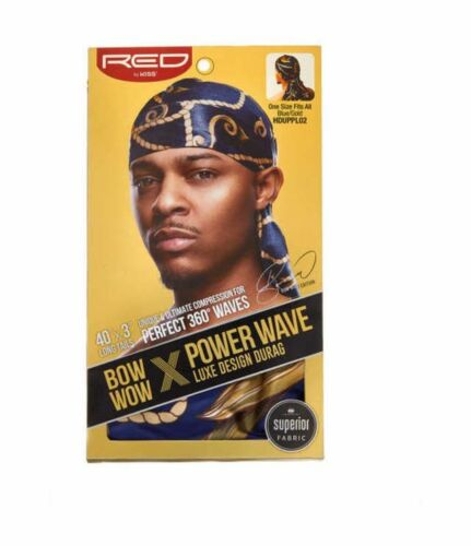 """Kiss Bow Wow Power Wave Luxe Design Pattern Men/'s Durag 40/""""x3/"""" Long Tail *1PC"""