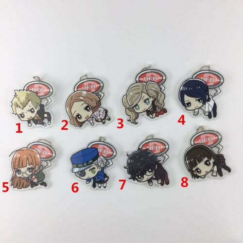 Anime Game Persona5 P5 Acrylic Keychain Key Ring Straps Schlüsselanhänger