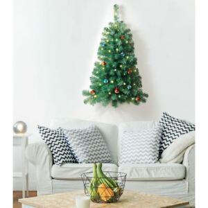 Small 3ft Wall Mountable Christmas Tree Half Tree Pre Lit
