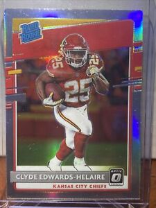 2020 Donruss Optic Clyde Edwards-Helaire Rated Rookie #171 Silver Holo Prizm