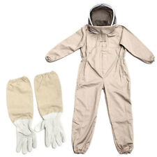 Full Body Anti Bee Suit Beekeeping Clothing Cotton Veil Hood Protectivegloves