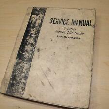 Hyster E30a E40a E50a E60as Electric Forklift Service Repair Manual Book Shop