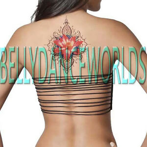 Details About High Quality Large Pink Lotus Flower Temporary Tattoo Arm Spine Back Hip Sticker