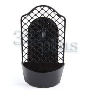 Miniature Dollhouse FAIRY GARDEN Accessories  ~ Black Metal Wine Rack
