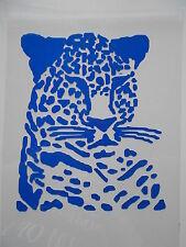 Schablone Stencil Leopard für Textilien, Wanddeko Airbrush u.v.m auf A4