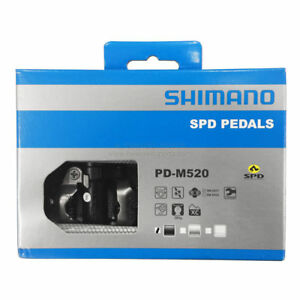 New-Shimano-PD-M520-Clipless-Mountain-Bike-MTB-Road-Pedal-Set-SPD-Cleats-Black
