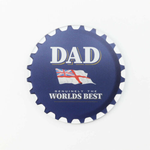 Best Dad Navy Rum Themed Bottle Top Design Printed Acrylic Coaster Individual