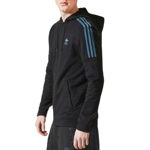 Nouveau Ornamental noir rayures à zippé à Originals bleues Adidas BlockSweat capuche TFKJ5l1c3u