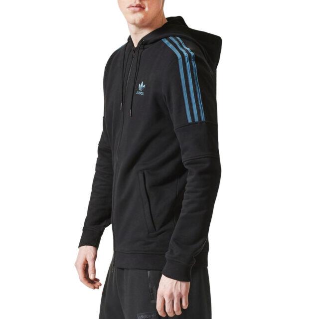 adidas Originals Men/'s Full Zip SPO Trefoil Hoodie Fleece Jacket S Dark Blue