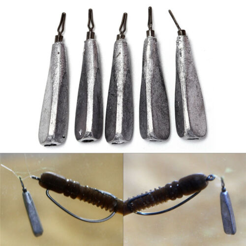 5Pcs Fishing Lead Sinker Weights Sinkers Balance Fishing Rotatable Lead DSUK