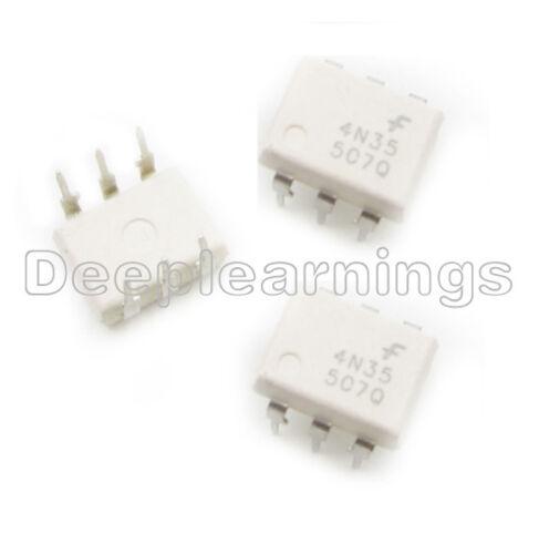5PCS 4N35 DIP-6 FSC Optocouplers Phototransistor IC 30V