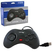 NEW Sega Saturn Style USB Black Classic Controller Joy Pad for (PC MAC) Computer