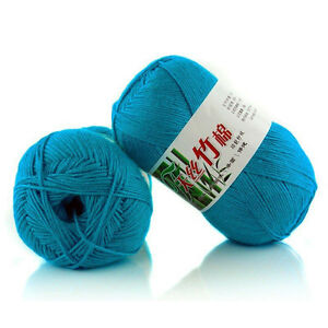 light-blue-Bamboo-Knit-Crochet-Knitting-Yarn-Baby-Cotton-Wool-Yarn-50g