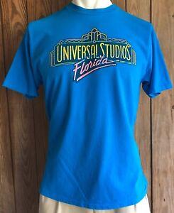 Universal-Studios-Florida-Men-s-XL-Tshirt-Blue-Short-Sleeve-Vintage-90-s-USA-Tag