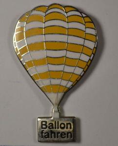 3 X 2 Cm StraßEnpreis Gelb FäHig Heißluft Ballon- Ballon Fahren Pin Badge Ca an2732