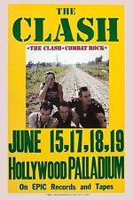 The Clash * Combat Rock * Promotional Poster Hollywood Palladium 1982  13x19