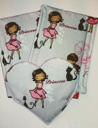 Gurtpolster für Kindersitz Prinzessin Kindersitz 3-tlg mit Mittelherz f/&f beige
