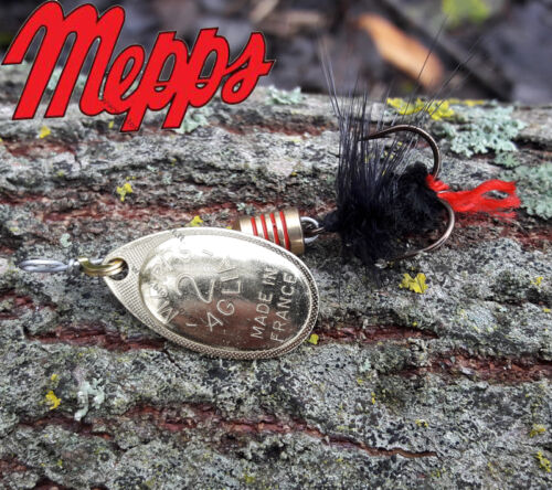 Mepps AGLIA MOUCHE lures Silver,Gold,Black,Copper perch Best lures for trout