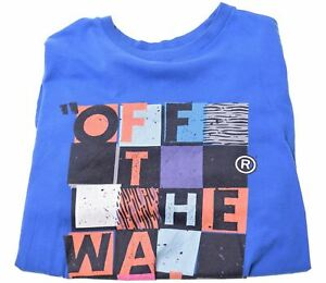 VANS-Boys-Graphic-T-Shirt-Top-13-14-Years-Large-Blue-Cotton-GQ03