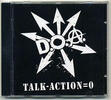 D.O.A. - Talk - Action = 0 CD GERMANY PRESS Subhumans Skulls SNFU Canada Punk