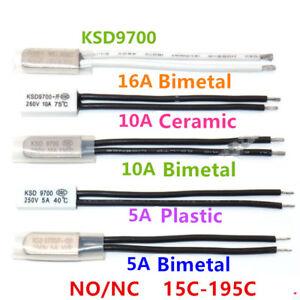 KSD9700-NC-NO-15-195C-Bimetal-Plastic-Ceram-TemperatureControl-Switch-Thermostat