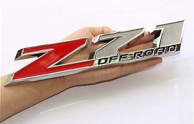 """1x 10/"""" Big OEM Z71 OFF ROAD Emblem for GM Silverado Sierra Truck Chrome WU1"""