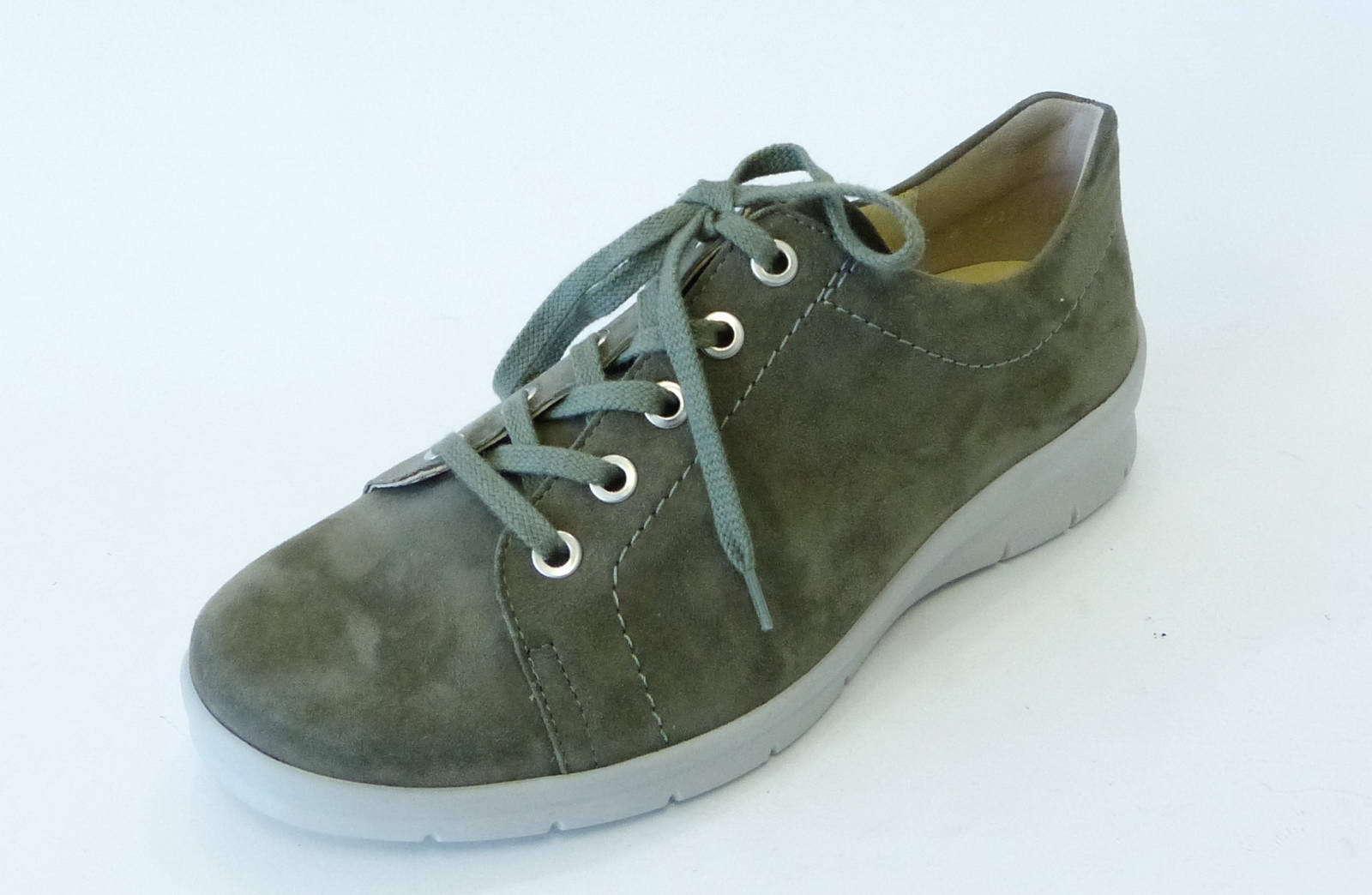Semler semi semi semi zapato Xenia verde juncos nobuck ancho de cuero H con cordones x2015042 088  conveniente