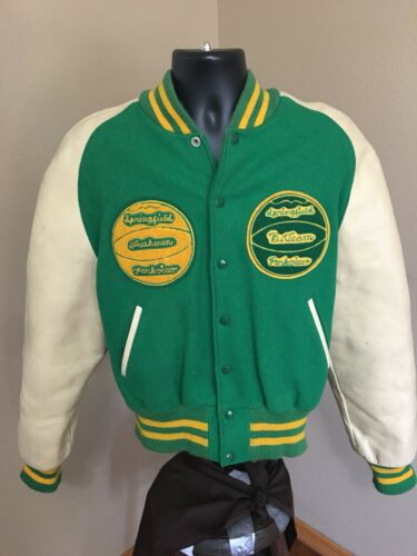 *Vintage Letterman Jacket 44 1970's Leather / Wool