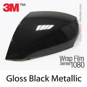 20x30cm film gloss black metallic 3m 1080 g212 vinyl covering series wrap ebay. Black Bedroom Furniture Sets. Home Design Ideas