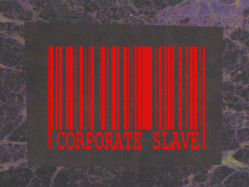 Corporate Slave BACK Patch Punk Anarchy Crass Class War Human Rights Liberation