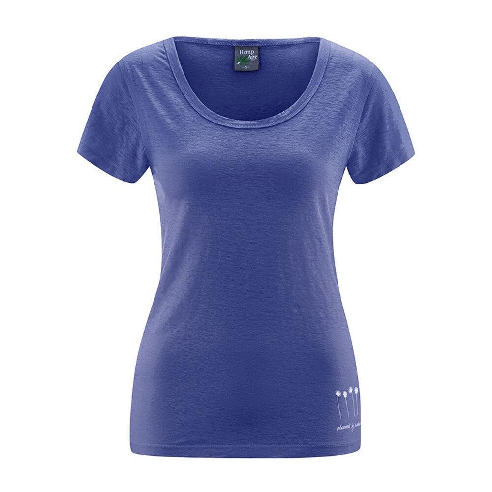 Hempage Donna T-shirt leggera leggera leggera e di raffreddonnato sulla canapa HAU a5c061
