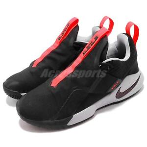 078671babd4 Nike Ambassador XI 11 Lebron James LBJ Black Crimson Grey Men Shoes ...